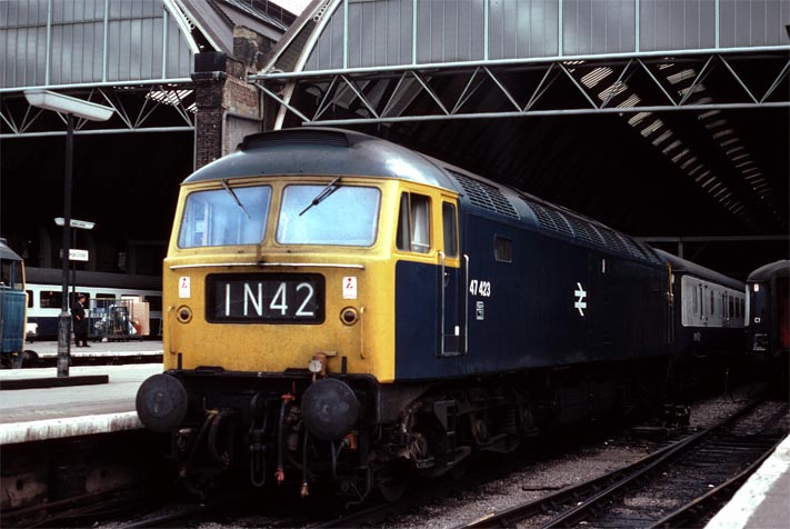 Class 47 in Kings Cross station