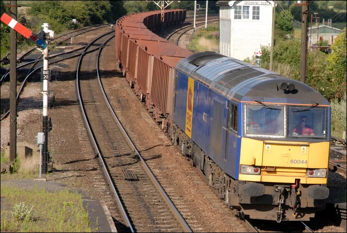 Class 60044 in EWS blue in 2007 at Barnetby