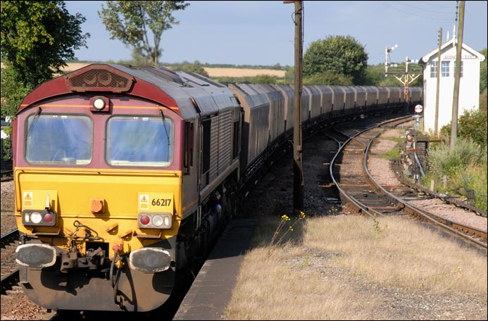 Class 66217 on another train load of imported coal in 2007