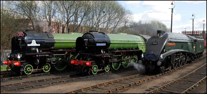 LNER class A1 A2 and A4 at Barrow Hill