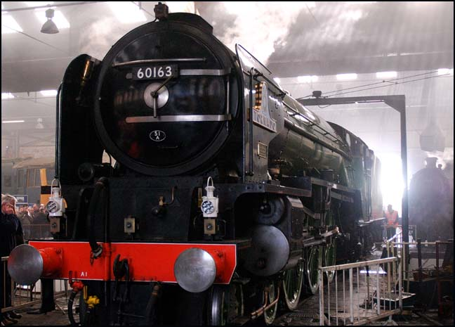 The new A1 tornado at Barrow Hill Shed in 2009