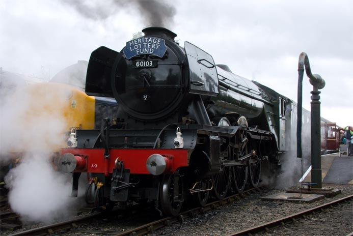 A3 60103 Flying Scotsman at Barrow Hill