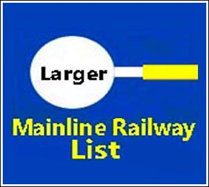 Larger List of Mainline railway pages on this site