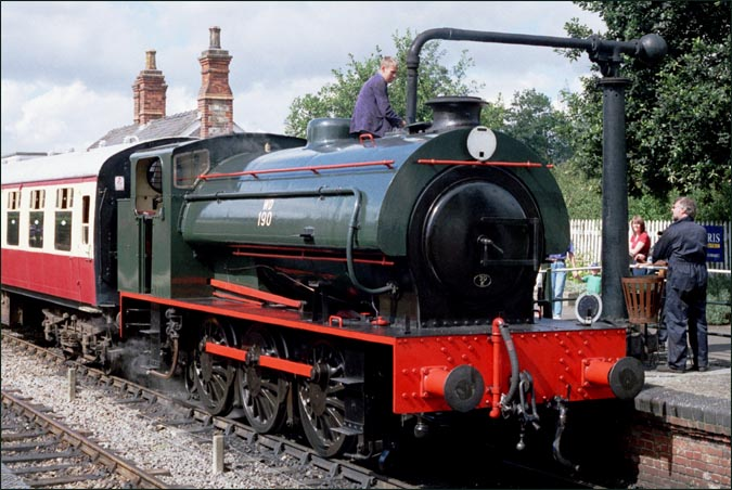 WD Austerity 0-6-0ST no.190 at the Colne Valley Railway