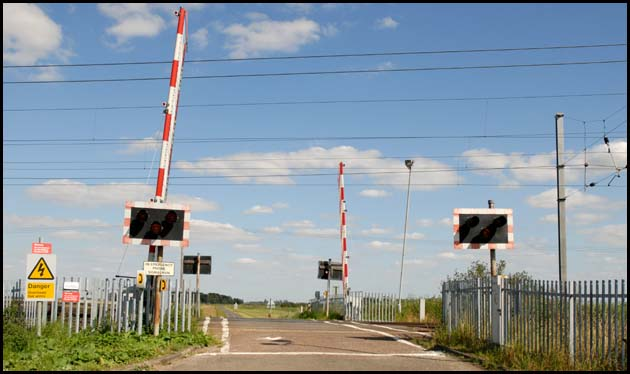 The Level crossing at Conington