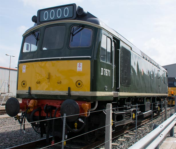 D 7671 at the Open day held at The Etches Park Depot