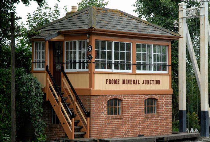 Frome Mineral Junction signal box  in 2008