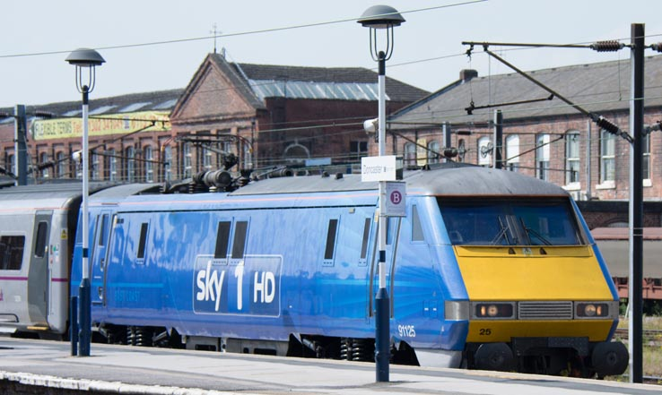 Sky 1 HD 91125 at Doncaster station
