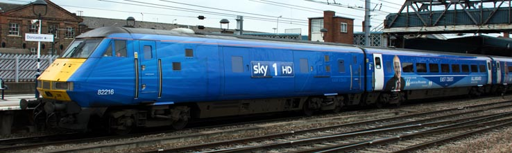 Sky 1 HD DVT 82216 at Doncaster station