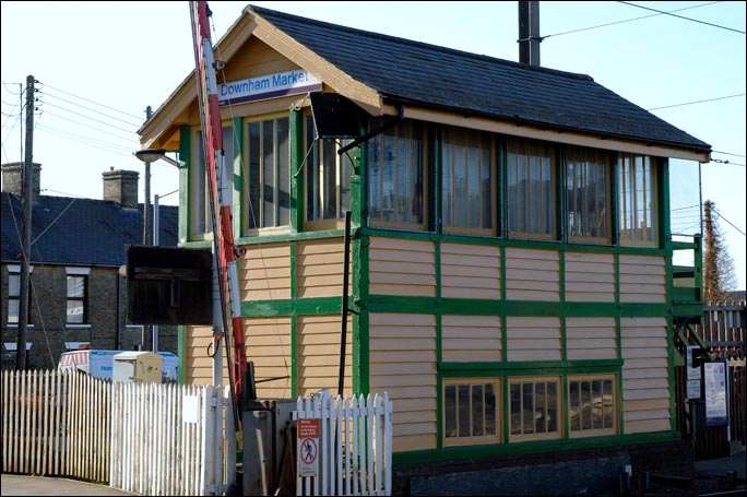 Downham Market signal box on the 2nd May 2011