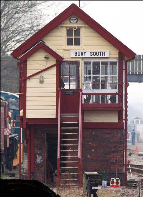 Bury south signal box