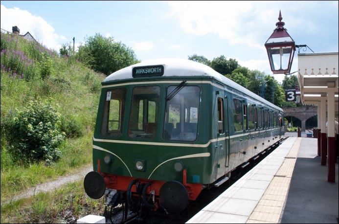 DMU in platform 3 at Wirksworth in 2011