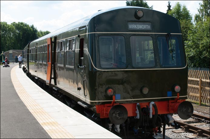 DMU at Duffield station on Saturday the 2nd of July in 2011 from the other end.