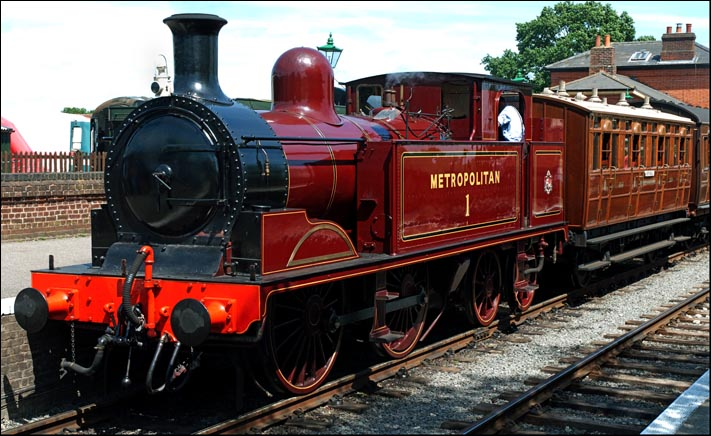 0-4-0T Metropolitain No.1 at North Weald railway station in 2013