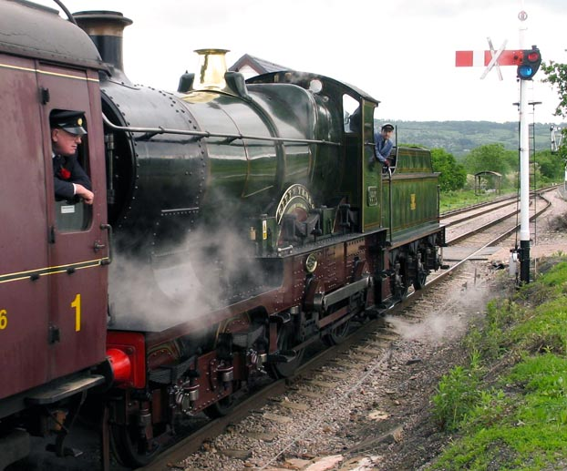 GWR 4-4-0 City of Truro in 2006