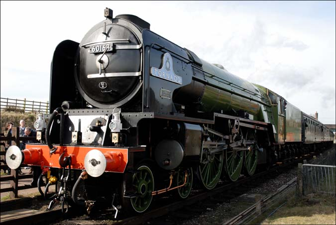 Tornado at the Great Central Railway's Quorn and Woodhouse station