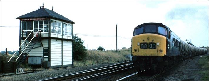 A class 45 on the down fast at Glendon North Junction