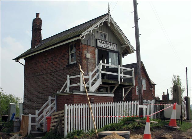Allington Junction signal box from the side and rear.