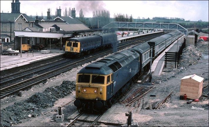 class 47522 during the Huntingdon Alterarations in BR days