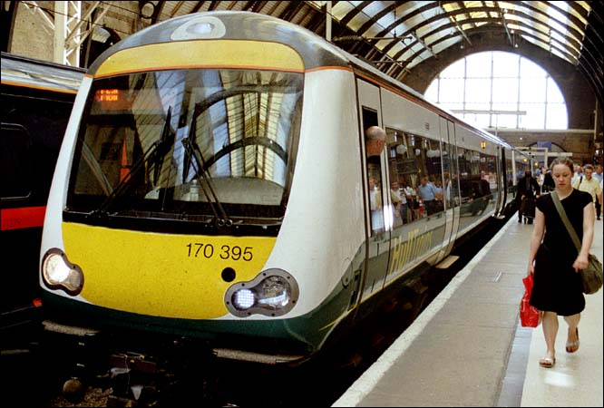 Hull trains class 170 395 at Kings Cross