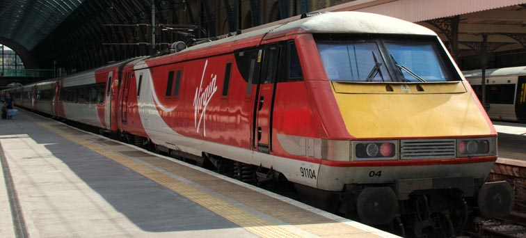 Virgin East Coast class 91104 in 2017