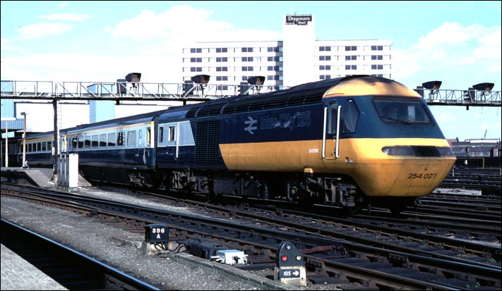 In BR days with a Inter-City 125 at Leeds