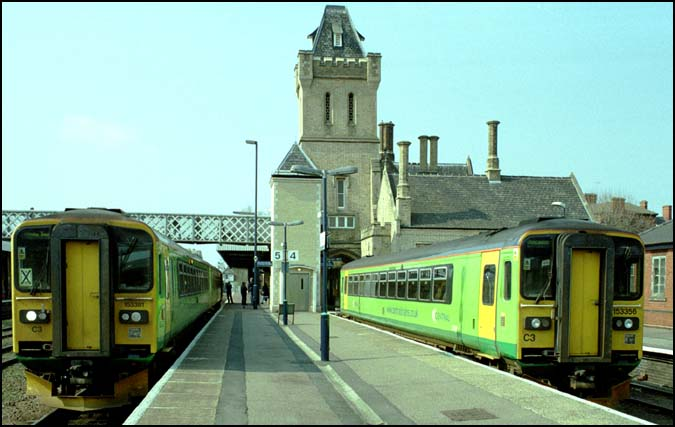 Two Central Trains units in Lincoln station