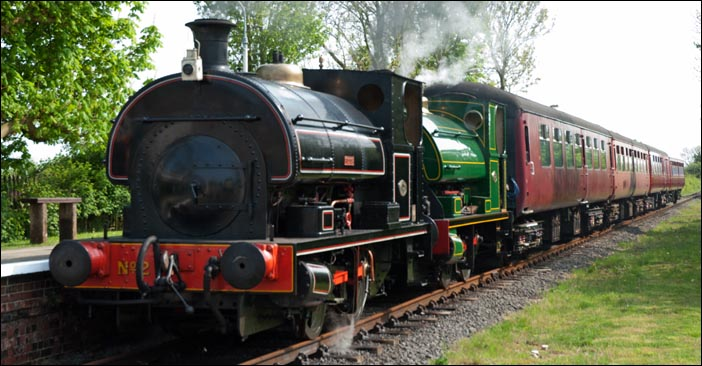 Two 0-4-0STs in North Thoresby station