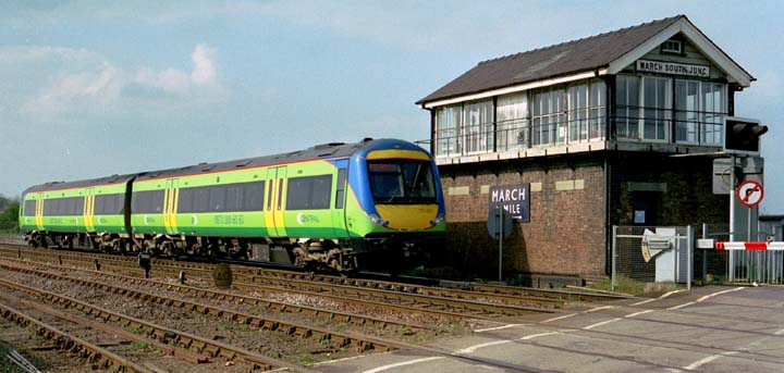 Central Trains 2 car class 170 501 at March