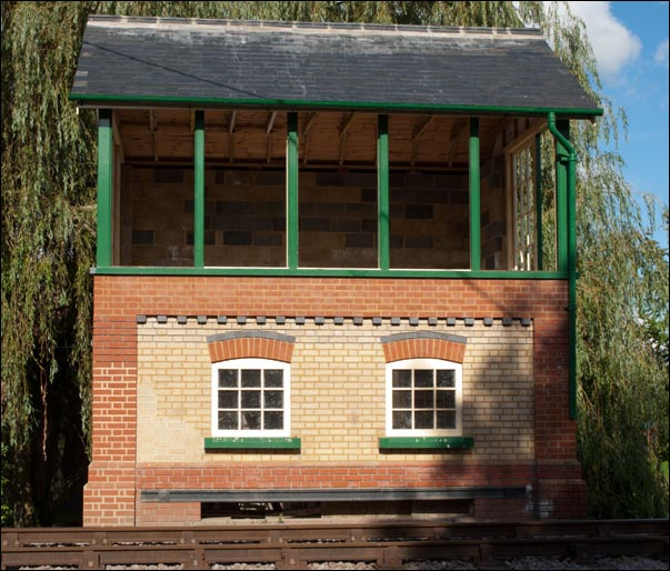 Thuxton signal box in 2012