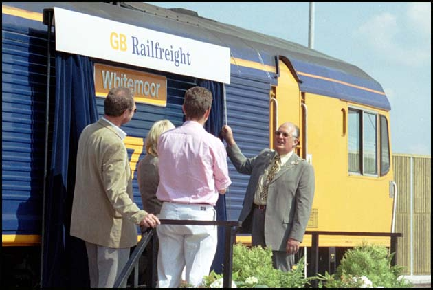 GB Railfreight class 66 701 being re-named