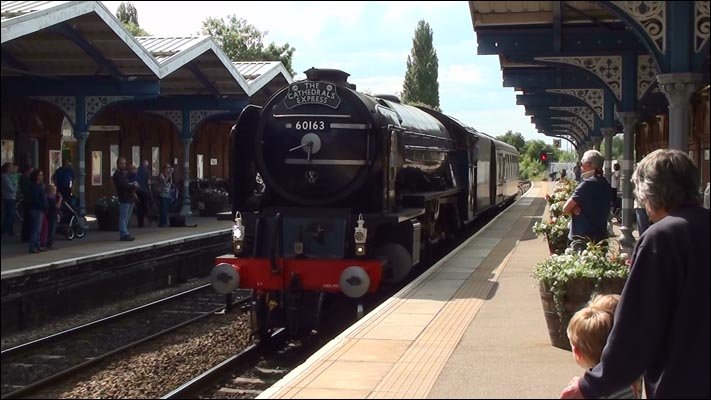 Tornado with its surport coach in March station on Tuseday the 25th of June