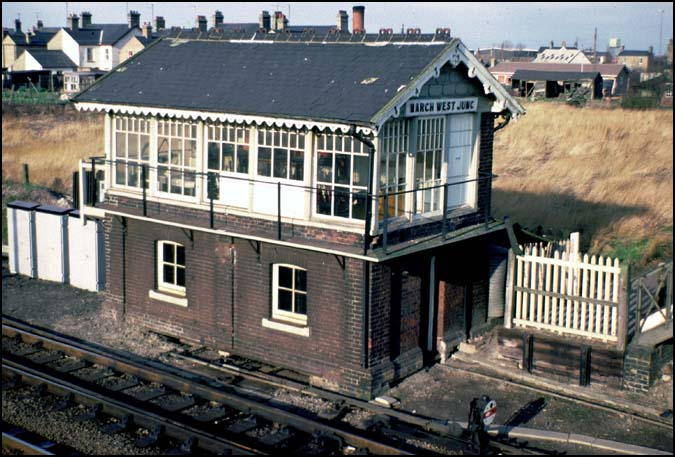 March West Junc signal box