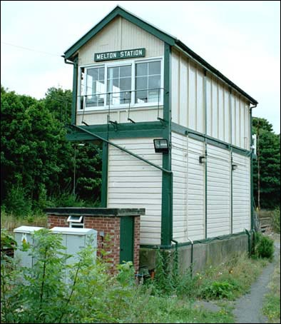 Melton station signal box in 2003