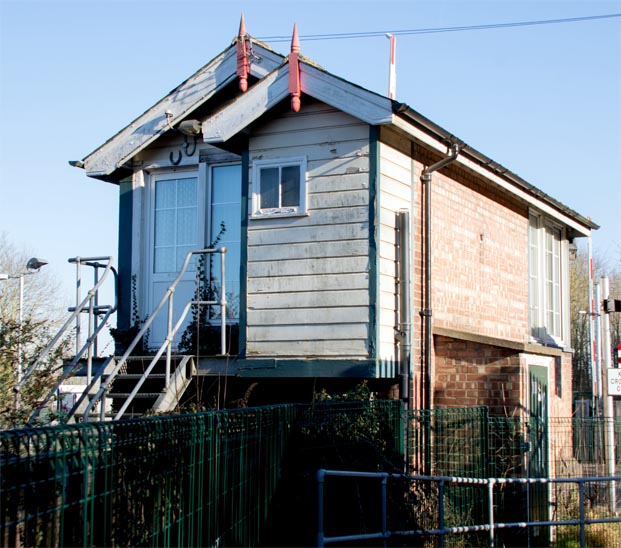 Blankney Signal Box signal box closed but still in place on the 25th February 2019