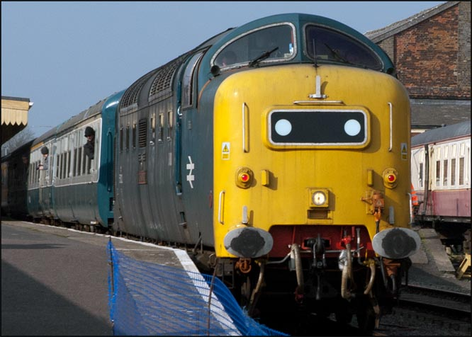 Class 55022 Royal Scots Grey at Dereham in 2012