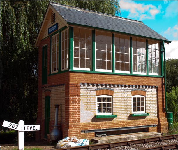 Thuxton signal box being built on the 20th September 2013