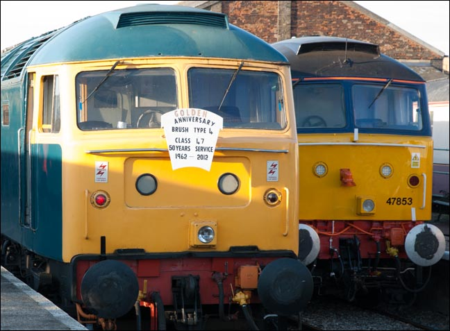 The Golden Anniversary Brush Type 4 Class 47 Headboard to mark 50 years of service from 1962 to 2012 of these fine Locomotives