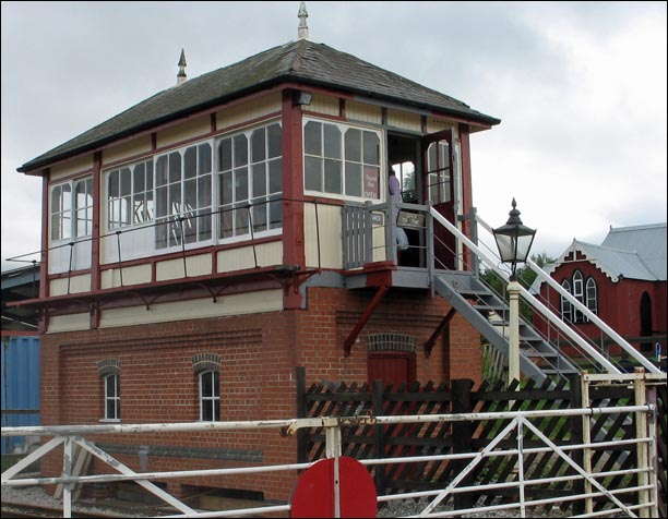Linby Station signal box