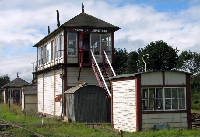 Swanwick Junction signal box from the  steps end.