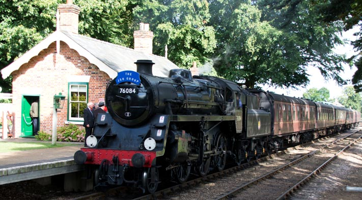British Railways Standard 4  2-6-0 no.76084 at Holt station