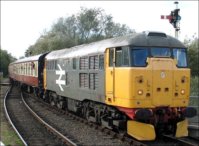 Class 31 108  comes into Orton Mere in 2004 with the Mark ones.