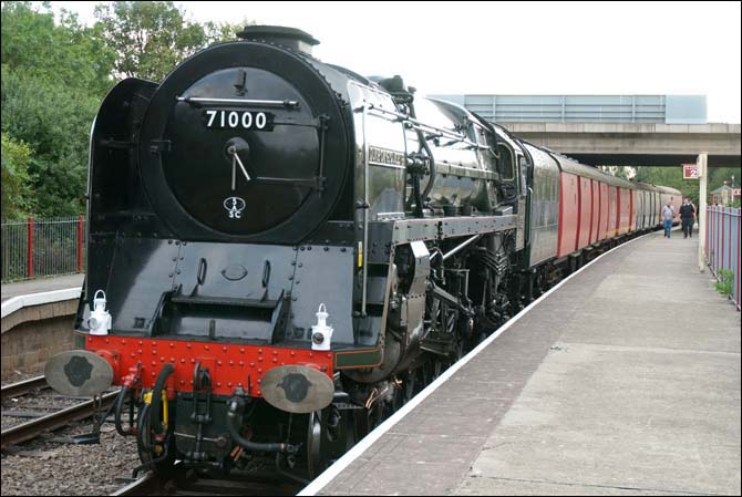 71000 Duke of Gloucester at the NVRs Orton Mere Station on Sunday the 11th of September 2011