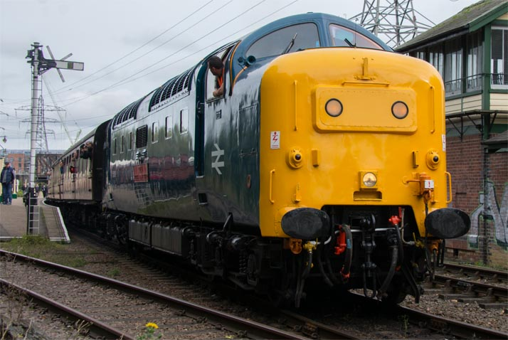 Class 55 Deltic 55019 on the 12th of October 2019