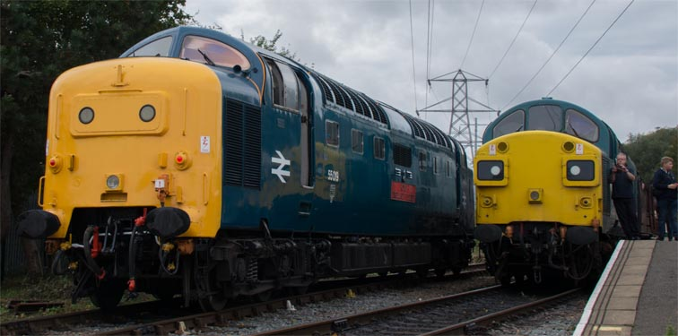 Class 55 Deltic with class 37109