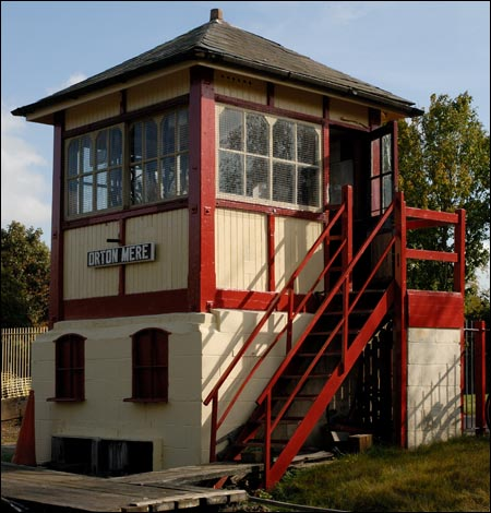 The Midland box from Helpston in 2009 at the Nene Valley Railway Orton Mere station