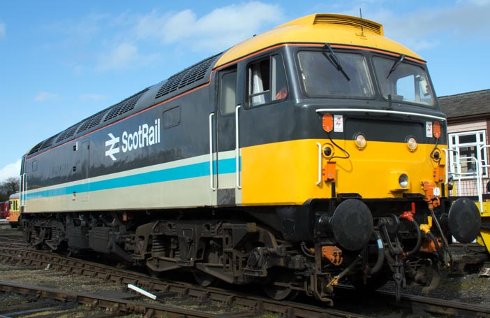Class 47712 in ScotRail colours