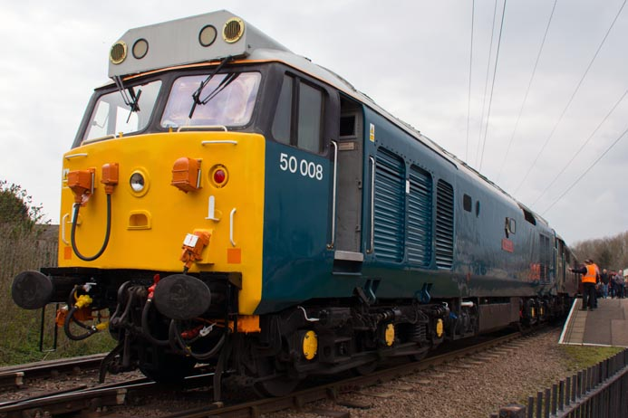Class 50008  and class 31452