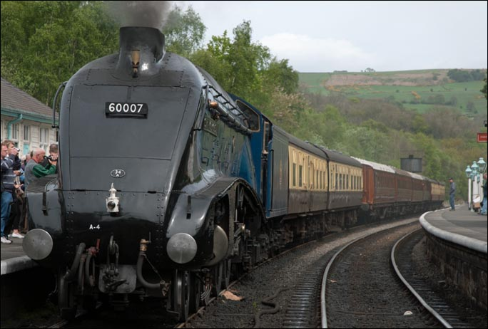 A4 Sir Nigel Gresley at the NYMR waiting for the of on the 6th of May 2007.