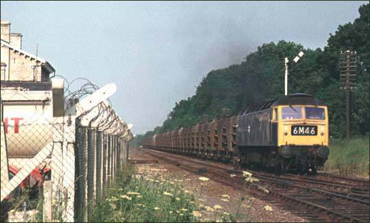 Class 47 on a fly ash train at North Luffenham